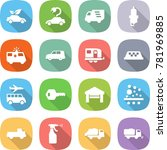 flat vector icon set   eco car... | Shutterstock .eps vector #781969885