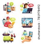 free shipment worldwide express ... | Shutterstock .eps vector #781978492