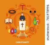 religions flat composition with ... | Shutterstock .eps vector #781978996