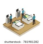computerized large format... | Shutterstock .eps vector #781981282