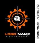 initial q gear target logo... | Shutterstock .eps vector #781981642