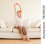 cute young girl relaxing and... | Shutterstock . vector #78198535