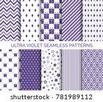 ultra violet color seamless... | Shutterstock .eps vector #781989112
