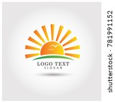 sunrise sunset hills symbol  ... | Shutterstock .eps vector #781991152