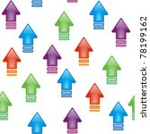 set of bright glossy arrows ... | Shutterstock .eps vector #78199162