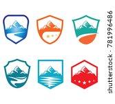 mountain shield high peak... | Shutterstock .eps vector #781996486