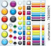 large collection of shiny bars  ... | Shutterstock . vector #78200074