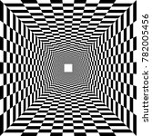 psychedelic tunnel  chessboard... | Shutterstock .eps vector #782005456