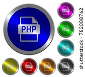 php file format icons on round... | Shutterstock .eps vector #782008762
