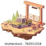 vector low poly pickup truck... | Shutterstock .eps vector #782011318