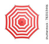 red umbrella in flat style... | Shutterstock .eps vector #782015446
