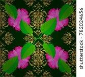 watercolor seamless pattern... | Shutterstock .eps vector #782024656