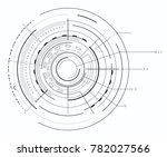 black and white interface and... | Shutterstock .eps vector #782027566