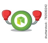 boxing neo coin character... | Shutterstock .eps vector #782030242