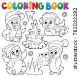 coloring book christmas... | Shutterstock .eps vector #782032282