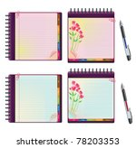 set of notebooks with lined... | Shutterstock .eps vector #78203353