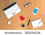 valentine day realistic... | Shutterstock .eps vector #782034226