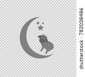 sheep  moon and stars vector... | Shutterstock .eps vector #782038486