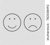 smile and frown face vector... | Shutterstock .eps vector #782038492