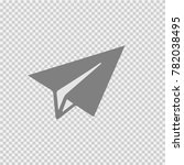 paper plane vector icon eps 10. ... | Shutterstock .eps vector #782038495