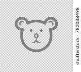 teddy bear head vector icon eps ... | Shutterstock .eps vector #782038498