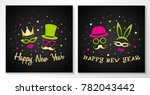 collection of vintage cards for ... | Shutterstock .eps vector #782043442