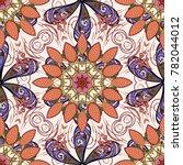 1950s 1960s motifs. retro... | Shutterstock .eps vector #782044012