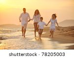 happy young family have fun on... | Shutterstock . vector #78205003