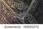 aerial view of car on road in... | Shutterstock . vector #782052472