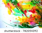 abstract watercolor texture.... | Shutterstock . vector #782054392