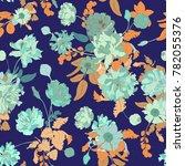 seamless vector botanical... | Shutterstock .eps vector #782055376