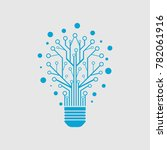 electric bulb circuit board ... | Shutterstock .eps vector #782061916