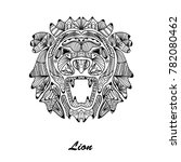 hand drawn decorative lion ... | Shutterstock .eps vector #782080462