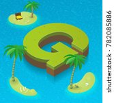 Isometric Letter G  Surrounded...