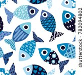 cute fish.  kids background.... | Shutterstock .eps vector #782094802
