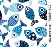 cute fish.  kids background.... | Shutterstock .eps vector #782094802