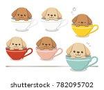 illustration of a teacup poodle | Shutterstock .eps vector #782095702