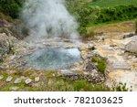 Natural Geyser Of Boiling...