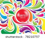 colorful abstract curly... | Shutterstock .eps vector #78210757