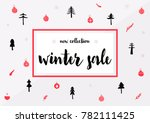 discount poster with lettering... | Shutterstock .eps vector #782111425