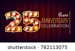 25 years anniversary banner... | Shutterstock .eps vector #782113075