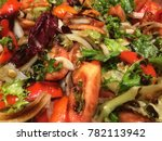 macro of a salad mix | Shutterstock . vector #782113942