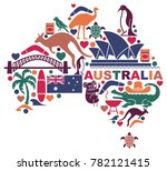 traditional symbols of... | Shutterstock .eps vector #782121415