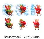 Stock photo cute winter pig illustration year symbol 782123386