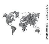 wood world map gray texture... | Shutterstock .eps vector #782129572