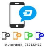 smartphone dash message icon.... | Shutterstock .eps vector #782133412