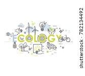 ecology lifestyle  green energy ... | Shutterstock .eps vector #782134492