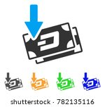 get arrow dash banknotes icon.... | Shutterstock .eps vector #782135116