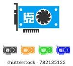 gpu accelerator card icon.... | Shutterstock .eps vector #782135122