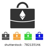 ethereum business case icon....   Shutterstock .eps vector #782135146